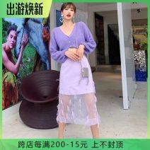 Fashion suit Autumn of 2019 4,6,8,10,12 Top, skirt