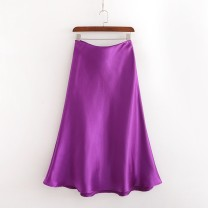 skirt Summer 2020 S,M,L violet street Solid color 18-24 years old XD30124099 91% (inclusive) - 95% (inclusive) Europe and America