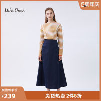 skirt Spring of 2019 01 Brown cyan orange green gray white black longuette commute High waist A-line skirt Solid color 25-29 years old 09WNS191054 51% (inclusive) - 70% (inclusive) mila owen Viscose zipper Viscose (viscose) 63% polyester 37% Same model in shopping mall (sold online and offline)