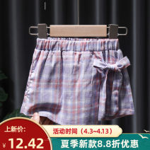 trousers Tagkita / she and others female 80, 90, 100, 110, 120, 130 Lilac, ice cream summer shorts Korean version No model Culotte Leather belt middle-waisted cotton Don't open the crotch Cotton 95% other 5% FHW751 Chinese Mainland