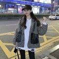 woolen coat Winter 2020 One size fits all, XXS pre-sale Hagrid, Hagrid other 51% (inclusive) - 70% (inclusive) routine Long sleeves commute Single breasted routine Hood lattice Straight cylinder Korean version