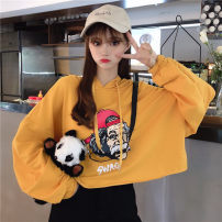 Sweater / sweater Autumn 2020 One size fits all, XXS pre-sale Long sleeves have cash less than that is registered in the accounts Socket singleton  Thin money Hood easy commute routine character 31% (inclusive) - 50% (inclusive) Korean version other printing