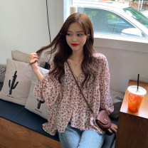 Lace / Chiffon Spring 2021 Black, apricot powder One size fits all, XXS pre-sale Long sleeves Sweet Cardigan singleton  easy Regular V-neck Decor routine 18-24 years old 51% (inclusive) - 70% (inclusive)