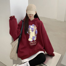 Sweater / sweater Winter 2020 Grey, red, blue One size fits all, XXS pre-sale Long sleeves routine Socket singleton  Plush Hood easy commute routine Cartoon animation 51% (inclusive) - 70% (inclusive) Korean version other