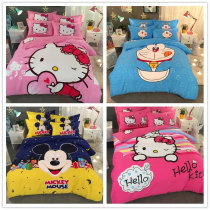 Bedding Set / four piece set / multi piece set Mischievous jingle when the great yellow duck happy yo-yo sweet lovely goddess meimei fruit pie star moon legend candy incense Forty Jin Yu luo lai 4 pieces Cartoon anime cotton 133x72 1.0 m (3.3 ft) bed 1.2 m (4 ft) bed 1.5 m (5 ft) bed 1.8 m (6 ft) bed