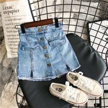 skirt 100cm,110cm,120cm,130cm,140cm,150cm,160cm wathet Other / other female Cotton 100% summer Korean version Denim Girl's super foreign jeans skirt Class A