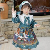 Dress female Other / other 80cm,90cm,100cm,110cm,120cm,130cm,140cm,150cm Other 100% spring and autumn Korean version Long sleeves Cartoon animation other Cake skirt Class B 12 months, 9 months, 18 months, 2 years old, 3 years old, 4 years old, 5 years old, 6 years old, 7 years old, 8 years old