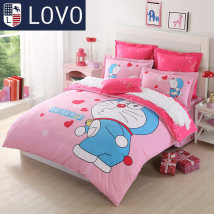 Bedding Set / four piece set / multi piece set Wonderful day kiss cute cartoon - kiss 1 other lovo 4 pieces Cartoon anime cotton . 1.5m (5ft bed) 1.8m (6ft bed) other cotton Sheet style Qualified products Cartoon style cotton 100% Doraemon