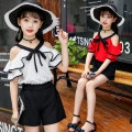 suit Other / other female summer Korean version Short sleeve + pants 2 pieces Thin money There are models in the real shooting Socket nothing Solid color other children Expression of love Class B Polyester 100% 10, 11, 12, 3, 4, 5, 6, 7, 8, 9
