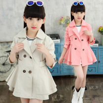 Plain coat Other / other female The recommended height is about 150cm for size 160, 110cm for Size 120, 130cm for size 140, 120cm for Size 130 and 140cm for size 150 Khaki MC windbreaker, pink MC windbreaker, ck138 sleeve with lace windbreaker, khaki, ck138 sleeve with lace windbreaker, pink routine
