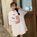 T-shirt White, black, white long sleeves, black long sleeves Average size Summer 2021 Short sleeve Half open collar easy Medium length routine street cotton 86% (inclusive) -95% (inclusive) 18-24 years old originality Cartoon animation Sports & Leisure
