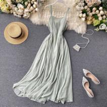 Dress See description Black, yellow, green, white, apricot, orange S,M,L Sleeveless V-neck Solid color