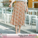 skirt Summer 2020 S M L Mid length dress fresh High waist A-line skirt Decor Type A 25-29 years old More than 95% other Mark Fairwhale / mark Warfield polyester fiber Pleated printing Polyester 100% Same model in shopping mall (sold online and offline)