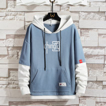 Sweater Youth fashion Quick witted fish Blue, black, gray M,L,XL,2XL,3XL,4XL other Socket routine Hood spring Slim fit leisure time youth Youthful vigor routine Ya2373 polyester fiber More than 95%