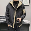 Jacket Youth fashion Gray, black M,L,XL,2XL,3XL,4XL routine standard Other leisure spring Long sleeves Wear out Hood Youthful vigor youth routine Zipper placket 2021 No iron treatment polyester fiber More than 95%