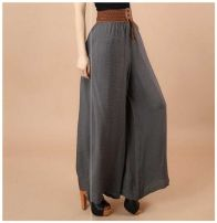 Casual pants Summer of 2018 Ninth pants Wide leg pants High waist commute Thin money 35-39 years old 51% (inclusive) - 70% (inclusive) Other cotton cotton