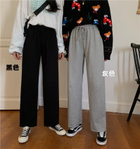 Casual pants XS,S,M Autumn of 2019 trousers Wide leg pants High waist 18-24 years old Other / other cotton