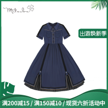 Dress Summer 2020 Full skirt in stock, full Cape in stock, full fur cap in stock, [20 yuan purchase, 1 match at random] S,M,L Mid length dress singleton  Short sleeve Sweet other middle-waisted Solid color Single breasted A-line skirt other Others 18-24 years old Type A Sunyoutee / sanyeting Lolita
