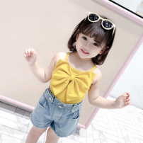 T-shirt Yellow, black, white, purple Other / other 80cm,90cm,100cm,110cm,120cm,130cm female summer Crew neck princess There are models in the real shooting nothing other Solid color Other 100% Class A other 12 months, 3 years, 6 years, 18 months, 9 months, 2 years, 5 years, 4 years Chinese Mainland