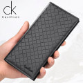 wallet Long Wallet PU Caxikven / caxikven brand new Japan and South Korea male Exposure Solid color 80% off Box youth Sewing synthetic leather 03