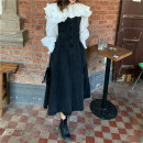 Dress Winter 2020 Shirt, suspender, skirt S. M, l, average size longuette Two piece set Long sleeves commute High waist Big swing 18-24 years old Korean version straps T = 1.12 51% (inclusive) - 70% (inclusive) other other