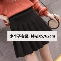 skirt Winter 2020 XS,S,M,L Black, light grey, dark grey Short skirt Versatile High waist Pleated skirt Solid color Type A 18-24 years old 71% (inclusive) - 80% (inclusive) Wool polyester fiber zipper