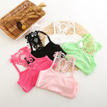Vest sling camisole summer No model Solid color nothing other Other 100% Class B 2, 3, 4, 5, 6, 7, 8, 9, 10, 11, 12, 13, 14 years old