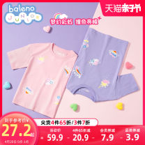 T-shirt 001w bleaching 033r light pink 009p light clove 001a carbon black baleno junior 110cm 120cm 130cm 140cm 150cm female summer Short sleeve Crew neck leisure time There are models in the real shooting nothing cotton rainbow Cotton 100% 8721201G392 Class B Sweat absorption Spring 2021