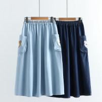 skirt Spring 2021 Average size Light, dark Mid length dress Sweet High waist Denim skirt Animal design E 81% (inclusive) - 90% (inclusive) Denim pocket
