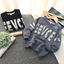 Sweater / sweater Other / other Gray, black male The recommended height is 110cm for tag 110, 120cm for tag 120, 130cm for tag 130, 140cm for tag 140, 150cm for tag 150 and 160cm for tag 160 spring and autumn nothing leisure time Socket routine No model cotton Solid color Class B
