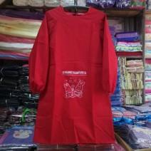 apron Sleeve apron waterproof Korean version PVC Household cleaning Women's waterproof apron public Cartoon