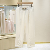 Casual pants Off white S,M,L,XL Summer 2021 trousers Natural waist Versatile routine 25-29 years old 51% (inclusive) - 70% (inclusive) 1E2244 pocket
