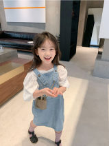 skirt TG8905 Chinese Mainland Other / other Cotton 65% other 35% 8 years old female Solid color summer Korean version Denim skirt cotton Class B As shown in the figure