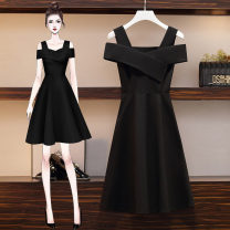 Dress Summer 2021 Black, blue, red, pink M [recommended 80-100 Jin], l [recommended 100-120 Jin], XL [120-140 Jin], 2XL [140-160 Jin recommended], 3XL [160-180 Jin recommended], 4XL [180-200 Jin recommended] Mid length dress singleton  Sleeveless Solid color Type A 81% (inclusive) - 90% (inclusive)