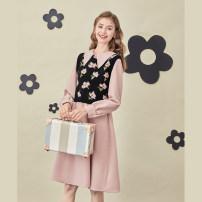 Women's large Spring 2021 Dress - lotus pink, vest - safflower Large XL, 2XL, 3XL, 4XL street DZ10789 10. DAA / Xiada Europe and America
