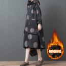 Windbreaker Winter of 2019 L,XL,2XL Black, rust red Long sleeves Medium length commute zipper Hood Dot Korean version pocket 51% (inclusive) - 70% (inclusive) cotton