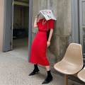 Fashion suit Summer 2021 S,M,L,XL Red short sleeve , Red skirt , Black short sleeve , Black skirt