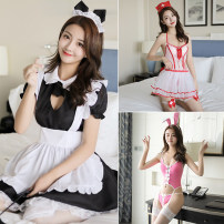 Fun suit Fei Mu Spandex polyester nylon Dress + cute girl's dress + Maid's sock + hair belt Suit + net socks Role play series uniform other other other Role play series Fimbre role play uniform Average size
