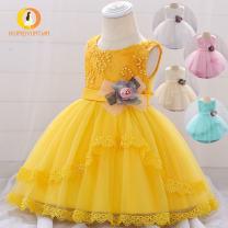 Children's dress L1886xz white, l1886xz pink, l1886xz champagne female 90cm,80cm,70cm,60cm MQATZ full dress L1886XZ Class B Cotton blend 3 months Europe and America