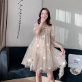 Dress Summer 2020 Picture color (normal), picture color (high quality) M,L,XL,XXL Mid length dress Short sleeve V-neck other Other / other