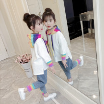 suit Other / other female spring and autumn Korean version Long sleeve + pants 2 pieces routine There are models in the real shooting Socket nothing Solid color other children Giving presents at school Class B 10, 11, 12, 13, 14, 3, 4, 5, 6, 7, 8, 9