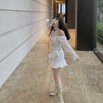 skirt Summer 2020 XS,S,M Show thin black, pure white