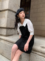 Dress Spring 2021 Millennium Caramel S, M Short skirt singleton  Sleeveless commute Crew neck Loose waist Socket other camisole 18-24 years old Type H Other / other Retro Y211201 91% (inclusive) - 95% (inclusive) other polyester fiber