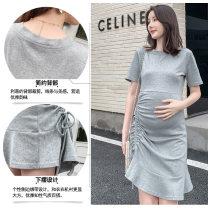 Dress You can be good at yoga Black, gray M,L,XL,XXL Short sleeve Medium length