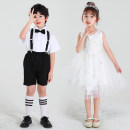 Children's performance clothes White princess skirt + crown, short sleeve + shorts + black tie, short sleeve + shorts + red tie neutral 110cm,120cm,130cm,140cm,150cm,160cm Luze dance rhyme Class A jazz Cotton 84% others 16% Pure cotton (100% content) 14, 3, 5, 9, 12, 7, 8, 6, 2, 13, 11, 4, 10 other