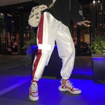 Casual pants Youth epidemic Reflective pants white reflective Pants Black A24 black B03 purple B03 black B03 blue Other /other SML XL 2XL 3XL 4XL thin Micro-bomb dance Loose Cropped pants two thousand and eighteen Small fresh summer teens Middle waist Feet Non-branded