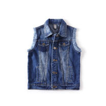 Vest neutral Rough edge Yibiao 3-4y 104, Yibiao 4-5y 110, Yibiao 5-6Y 116, Yibiao 7-8y 128, Yibiao 9-10y 140 Other / other spring and autumn routine No model Single breasted leisure time Denim Solid color Cotton 100% 2, 3, 4, 5, 6, 7, 8, 9, 10 years old