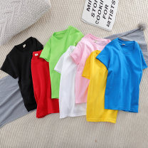 T-shirt 100cm,110cm,120cm,130cm,140cm,150cm,160cm male summer Short sleeve Crew neck leisure time No model nothing cotton other Cotton 85% others 15% Class B Sweat absorption 2, 3, 4, 5, 6, 7, 8, 9, 10, 11, 12, 13, 14 years old Chinese Mainland Zhejiang Province Huzhou City
