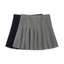 skirt Summer 2021 S,M,L Gray, white, navy Short skirt Sweet High waist Pleated skirt Type A 18-24 years old 31% (inclusive) - 50% (inclusive) other other