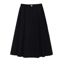 skirt Autumn 2020 S, M White, black Mid length dress commute High waist A-line skirt Solid color Type A 18-24 years old 31% (inclusive) - 50% (inclusive) Korean version